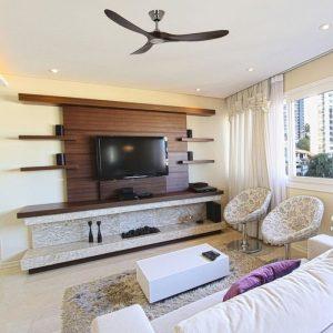 ventilateur de plafond en bois genuino design avec télécommande