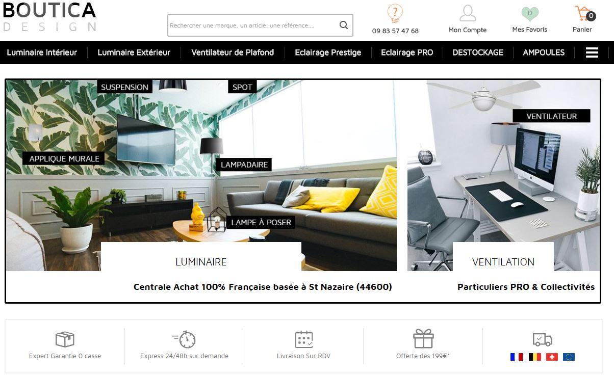 achat luminaire ventilateur boutica design