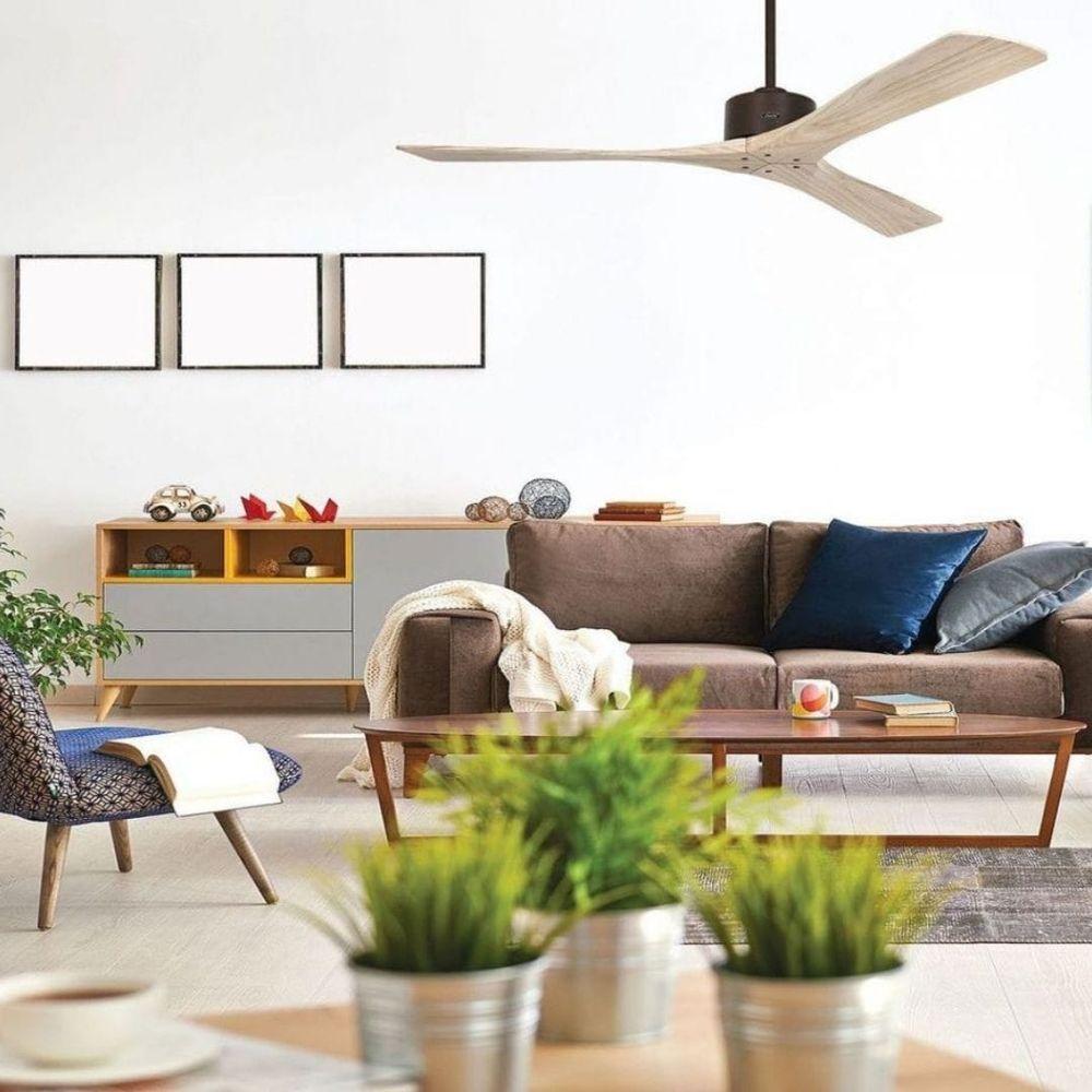 ventilateur plafond en bois