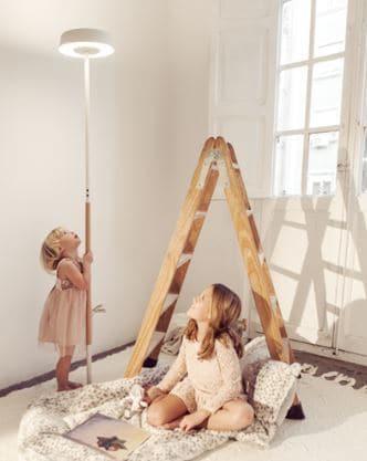 lampadaires scandinave bois blanc