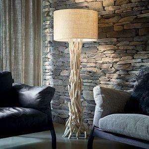 lampadaire en bois flotté driftwood ideal lux