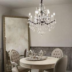 lustre moderne avec pampille salon