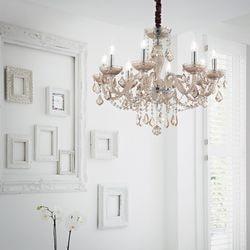 lustre moderne avec pampilles pour la chambre