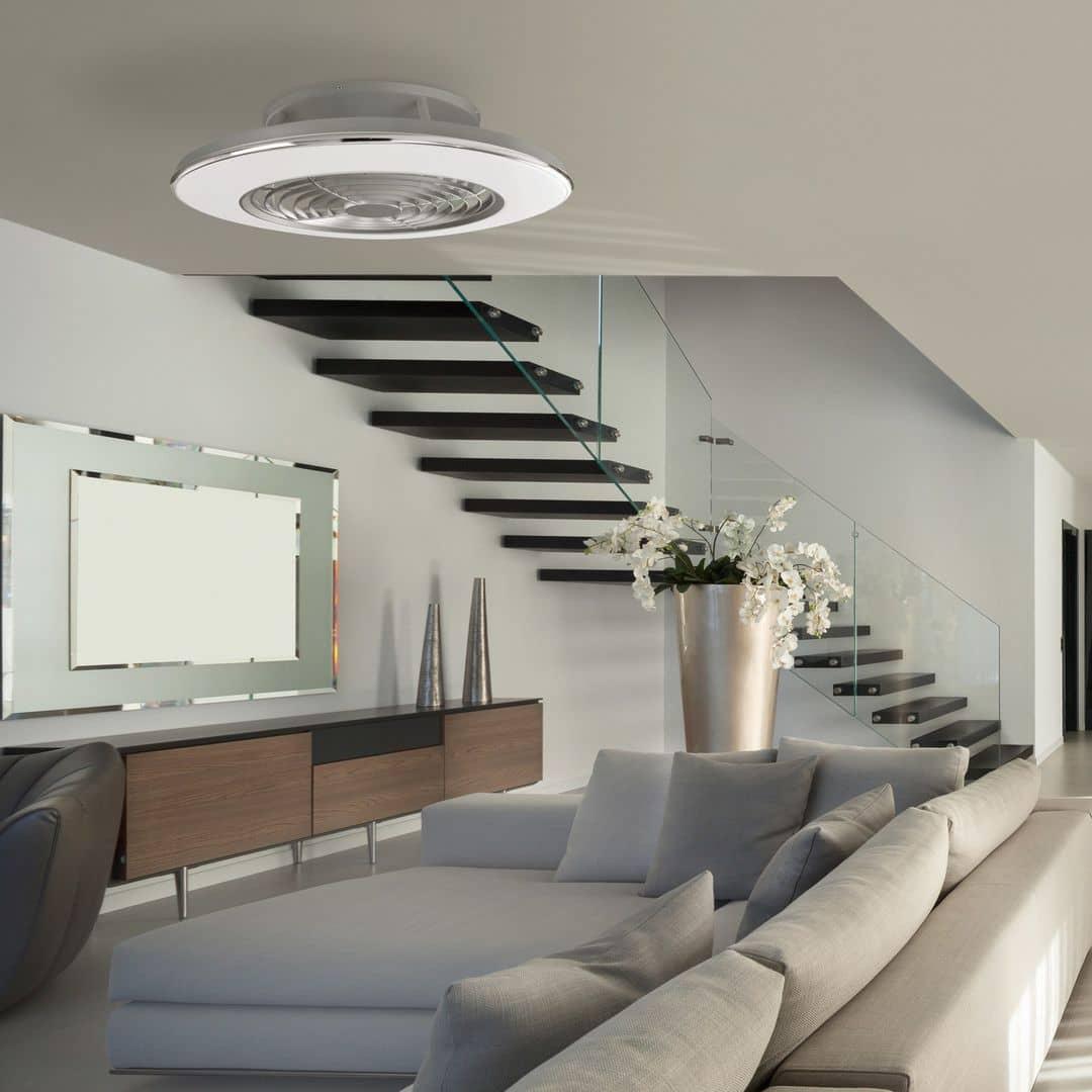ventilateur de plafond design alisio mantra avec lumière