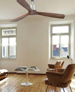 ventilateur de plafond lantau en bois moderne avec télécommande