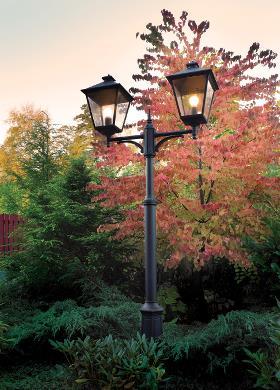 candelabre lumineux avec 2 sources de lumière