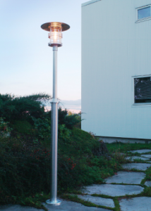 lampadaire extérieur norlys bord de mer