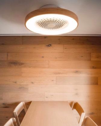 ventilateur plafond sans pale tibet mantra