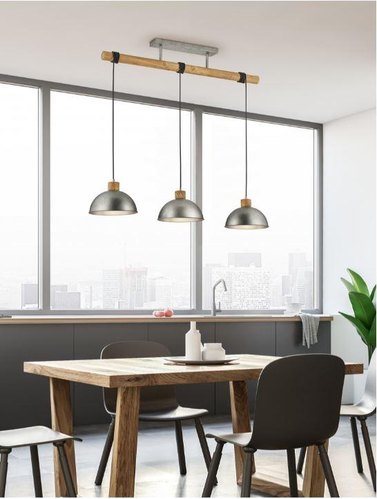 suspension de table à manger 3 lampes