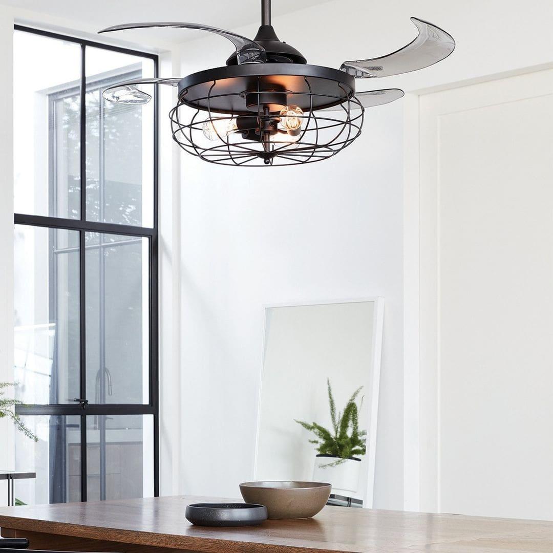 ventilateur-plafond-fanaway retractable