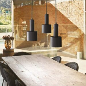 Suspension Noire Holly Ideal Lux
