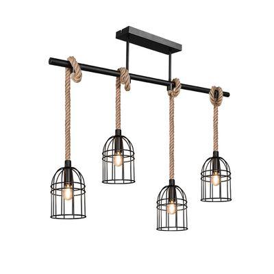 lampe suspendu avec corde trio lighting Wodan
