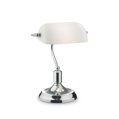 lampe banquier vintage blanche